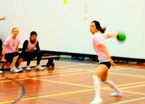 Due to my softball background, I started as an underhand thrower! When I got really good in dodgeball (yes, you can get really good in dodgeball :p), I can now throw both overhand and underhand pretty darn well!