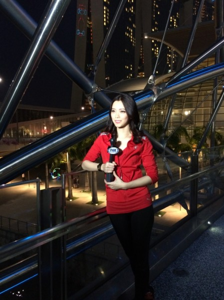 My first LIVE hosting at Helix Bridge, Marina Bay Sands, covering the Singapore Grand Prix - Formula One