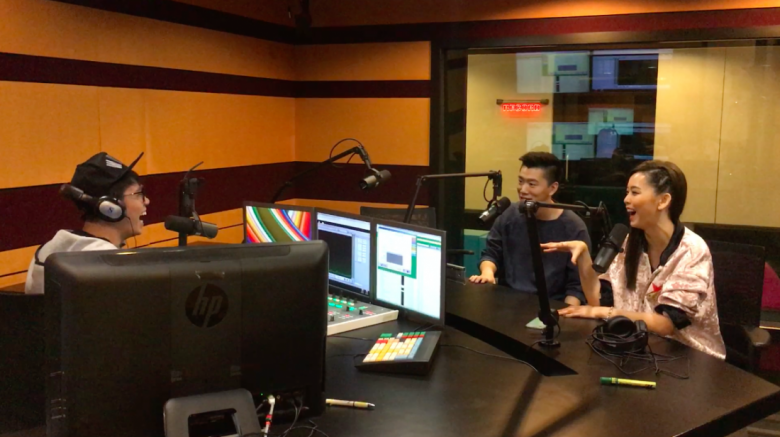 In the ONEFM studio with radio DJ Brandon!
